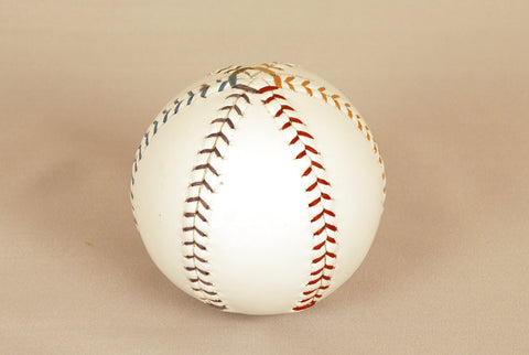 White leather ball, Six-petalled template, 75mm, 170gr, Spanish leather.
