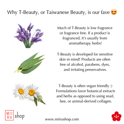taiwanese skincare t-beauty t beauty miirushop review