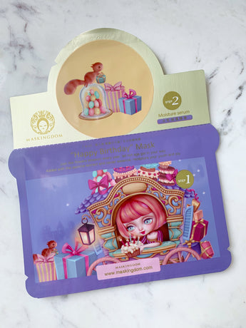maskingdom happy birthday i wish sheet mask 2 step
