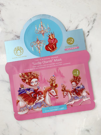 maskingdom i wish lucky charm 2 step sheet mask