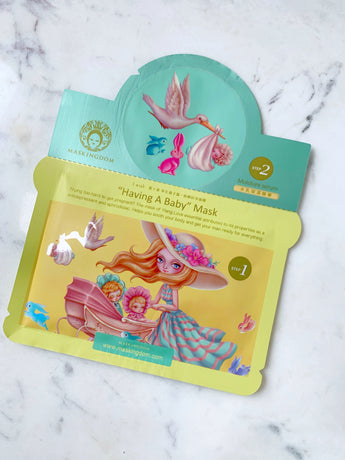 maskingdom i wish having a baby 2 step sheet mask