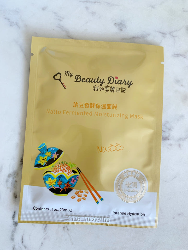 Natto Fermented Moisturizing Mask my beauty diary
