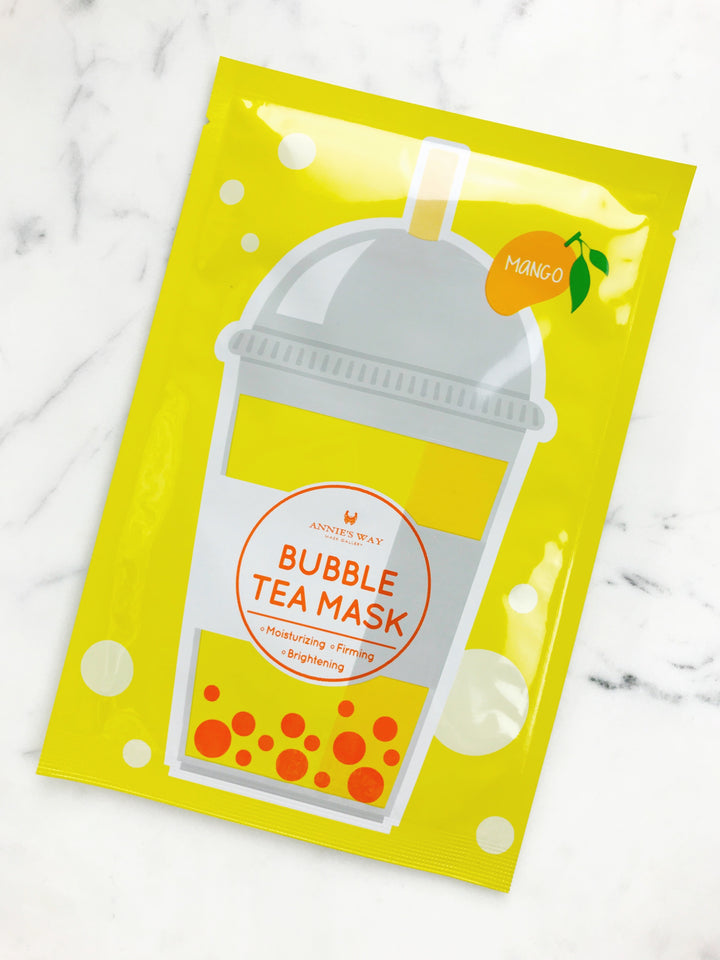 Mango Tea Bubble Tea Moisturizing, Firming, and Brightening Mask