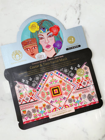 maskingdom caviar and taro taiwanese aboriginal 2 step sheet mask