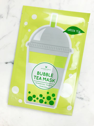 Green Tea Bubble Tea Oil-Balancing, Soothing, and Moisturizing Mask