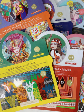maskingdom taiwanese aboriginal sheet mask set 2 step