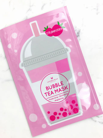 Strawberry Tea Bubble Tea Moisturizing, Revitalizing, and Brightening Mask