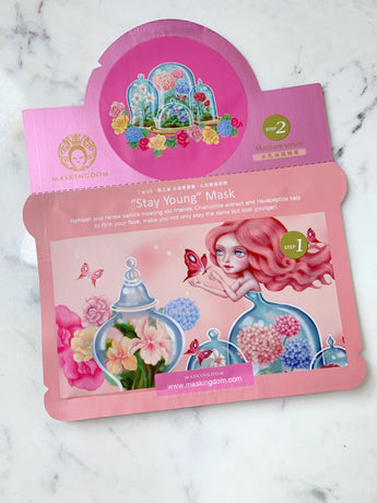 maskingdom stay young i wish sheet mask 2 step
