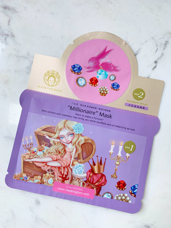 maskingdom millionaire i wish 2 step sheet mask