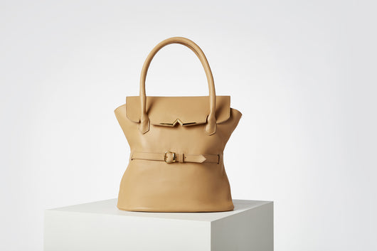 Tote Bag in calf Leather and double magnet closing - Francesca Evangelista
