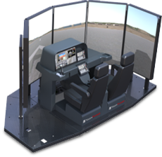 TOUCHTRAINER FM 210 - 210 DEGREE VISUAL MOTION BATD FLIGHT SIMULATOR