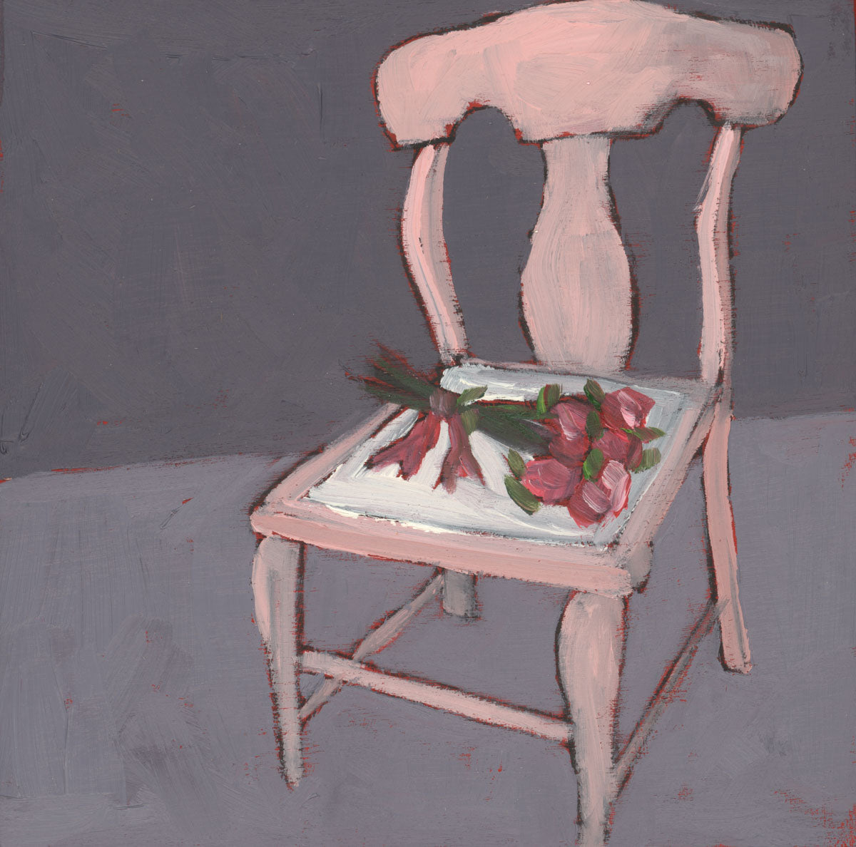 1380: Pink Chair, Pink Roses