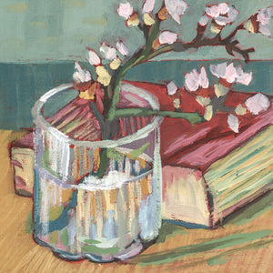 "0674: Experimenting, #1 (a Study of Van Gogh's ""Blossoming Almond Branch In a Glass"")"