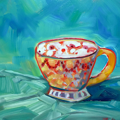 0438: Teacup Study in Oils