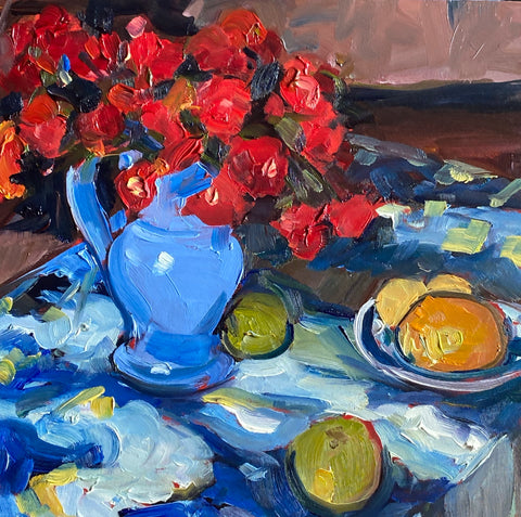 1686: Study of Still Life with Blue Vase by Josef Pankiewicz