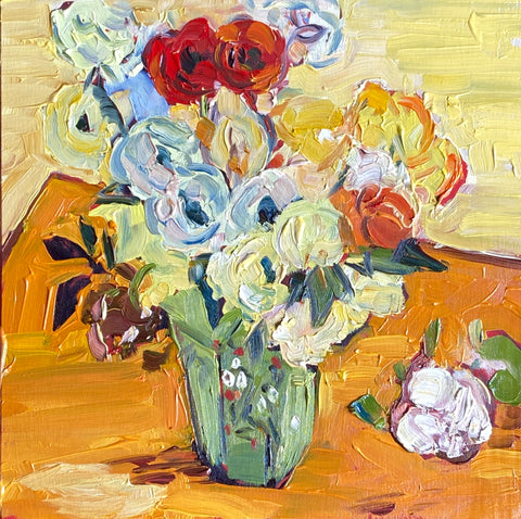 1685: Study of Japanese Vase with Roses and Anemones by Vincent Van Gogh