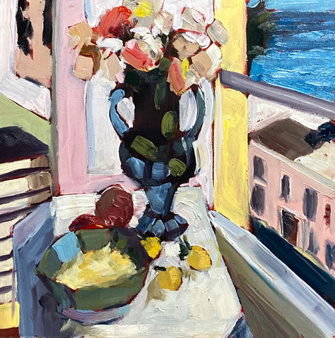 1684: Study of Flowers in Front of a Window by Henri Matisse