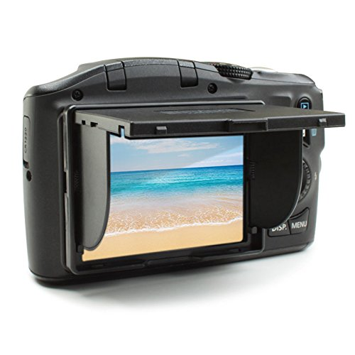 ENHANCE 3 Inch LCD Sun Shade Pop Up Photography Screen with Folding Design for Glare Elimination - Compatible with Canon, Fujifilm, Nikon, Panasonic, Sony and More Cameras with 3 Inch Screens