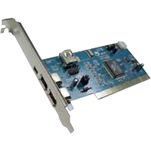 PPA International FireWire 4 Port 3 External & 1 Internal 6 Pin Connectors PCI Card, 14.7'(4.5m) Max Cable Length