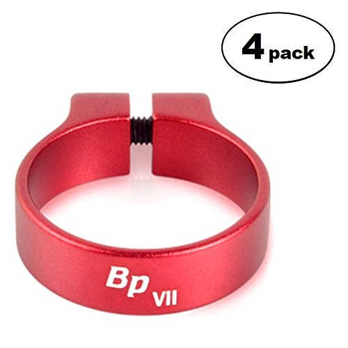 Bitspower Luxury Clamp For 3/4 OD Tube, Red, 4-pack