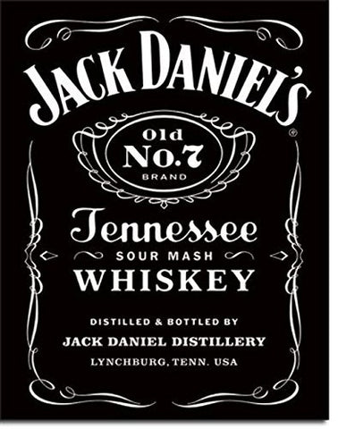 Jack Daniel's Black Label Tin Sign