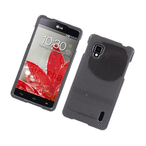 Eagle Cell PILGLS970G127 Stylish Hard Snap-On Protective Case for LG Optimus G LS970 - Retail Packaging - Carbon Fiber