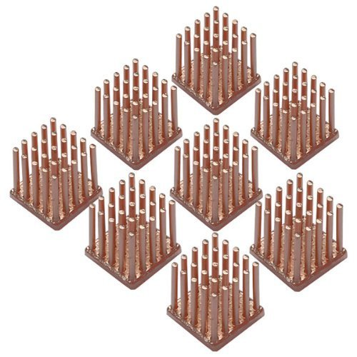 Enzotech Graphics Card Passive Heat Sink ,14 x 14x 14 mm, Copper, 8-pack