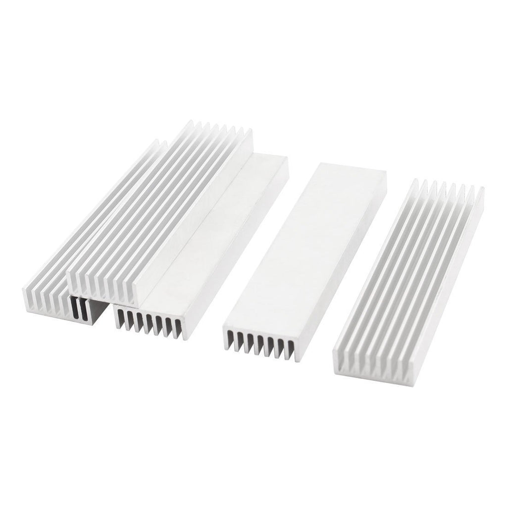 5 Pcs Silver Tone Aluminium Radiator Heatsink Heat Sink 100x25x10mm