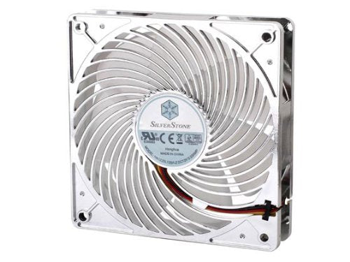 SilverStone Air Penetrator Air Channeling Case Fan with Red LED Light 12012025mm/1500rpm AP121-RL (Silver)