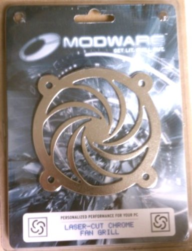 Modware Swirl 80mm Laser Cut Chrome Fan Grill CFG80TU