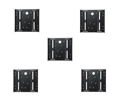 (5 Pack) 2.5 To 3.5 Bay SSD HDD Notebook Hard Disk Drive Metal Black Mounting Bracket Adapter Tray Kit -