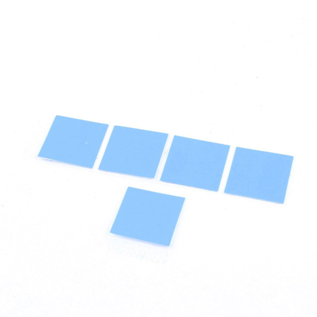 5 Pcs Thermal Conductive Heatsink Mount Stickers Blue 20x20mm