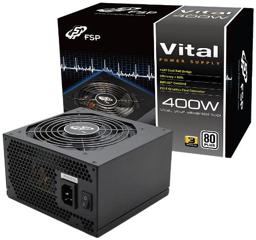 FSP Group 400W ATX Power Supply 12V 80 PLUS Certified VITAL SERIES (VITAL 400)