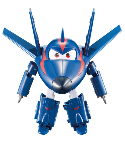 "Super Wings - Transforming Agent Chase Toy Figure | Plane | Bot | 5"" Scale"