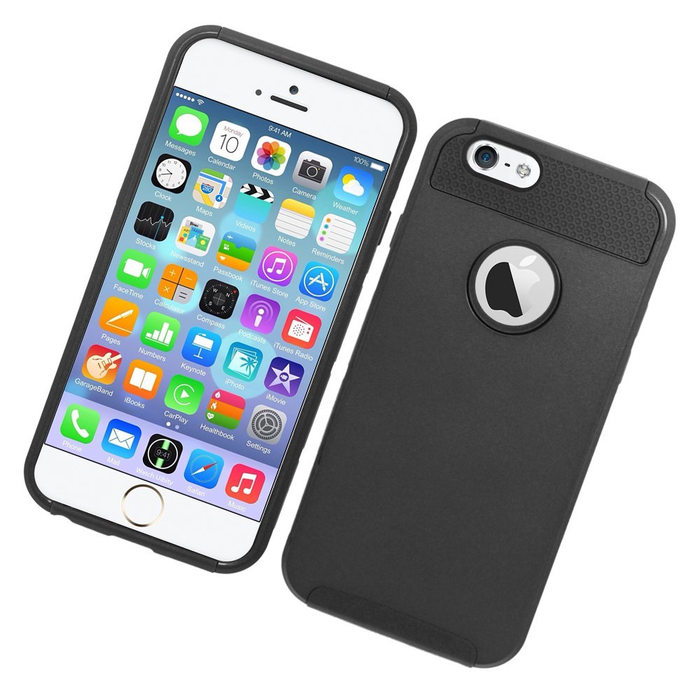 Eagle Cell Hybrid Nest Protective Hard Case for Apple iPhone 6 - Retail Packaging - Black