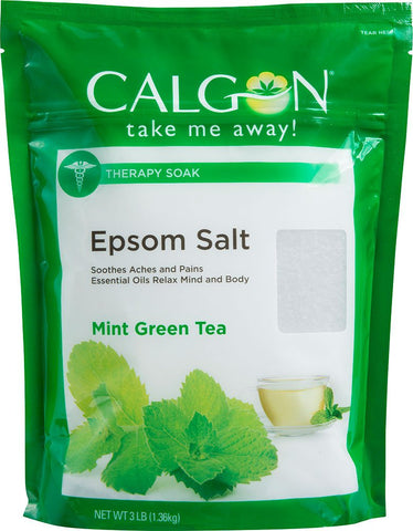 Calgon Epsom Salt, Mint Green Tea, 3 Pounds