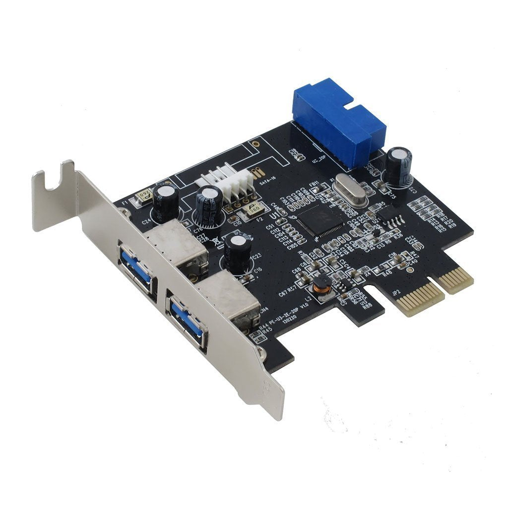 Sedna - PCI Express USB 3.0 4-Port Adapter (2E 2I (20 Pin Internal Port)) with Low Profile Bracket, Support Win 8 UASP