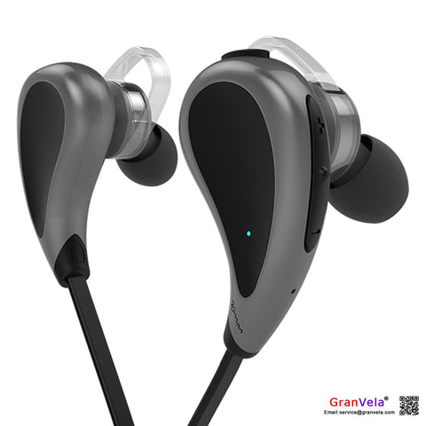 GranVela S330 In-Ear Sport Earbuds, Wireless Stereo Headphones with Microphone and Sweatproof, Bluetooth 4.0 Noise isolation Earphones - Black