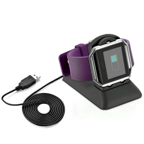 2 in 1 Charging Stand Desktop Station for Fitbit Blaze Cellphone Holder for iPhone Samsung