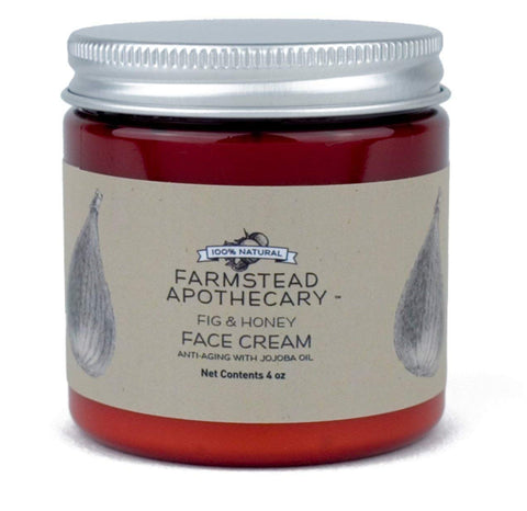 Farmstead Apothecary 100% Natural Anti-Aging Face Cream with Jojoba Oil, Fig & Honey 4 oz