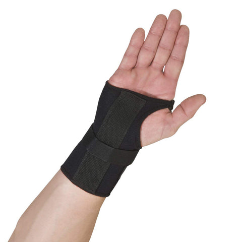 Thermoskin Wrist Brace, Hand Brace, Carpal Tunnel Brace with Dorsal Stay, Black, Left, Large