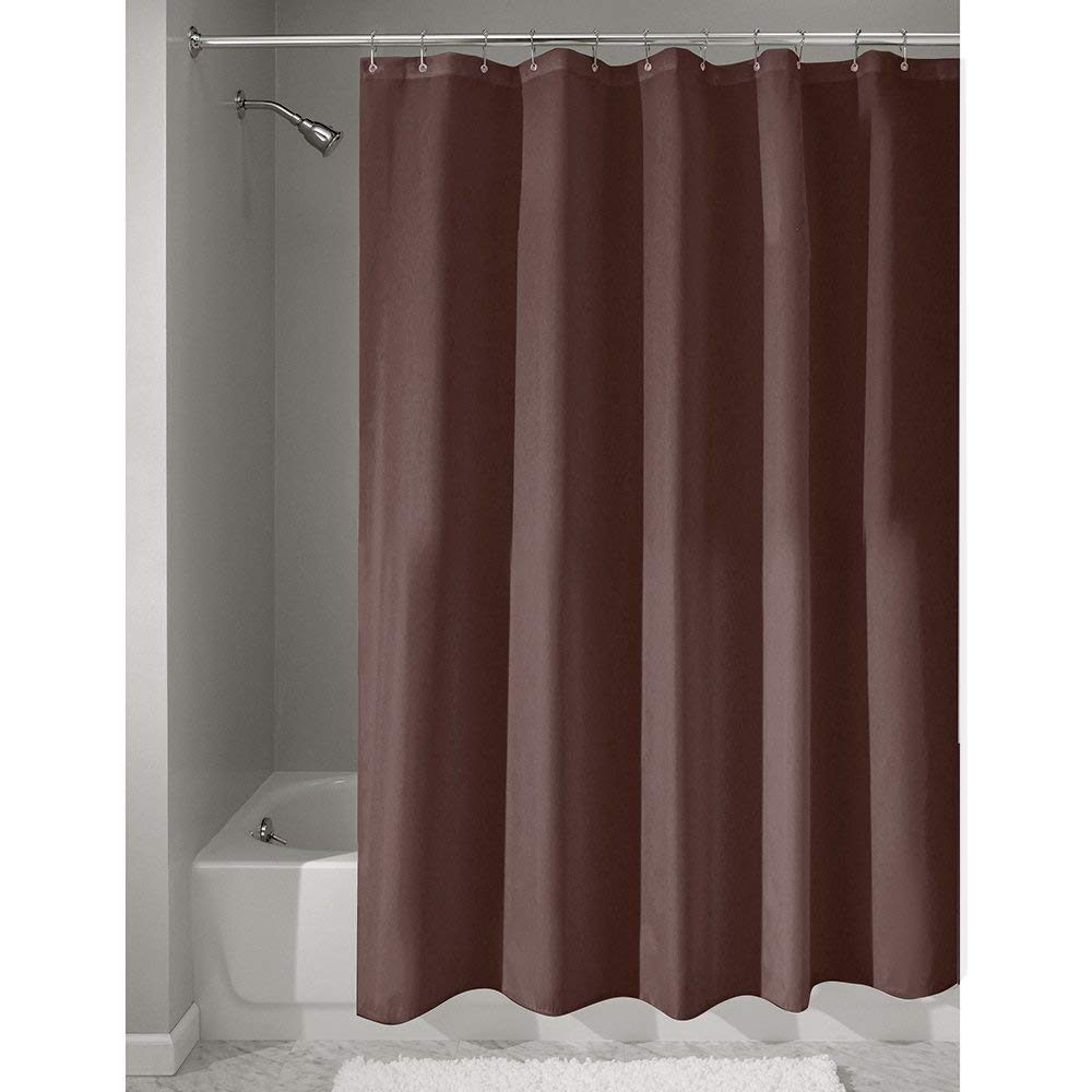 InterDesign Mildew Free Water Repellent Fabric Shower Curtain 54 Inch By 78