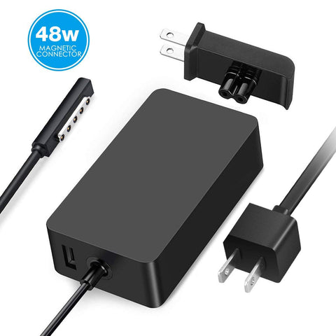 Surface Pro 2 Charger Surface Pro 1 Charger,48W 12V 3.6A Surface Power Supply Adapter for Microsoft Surface Pro 2 Surface Pro 1 Surface RT with 6Ft Power Cord and Portable Wall Plug