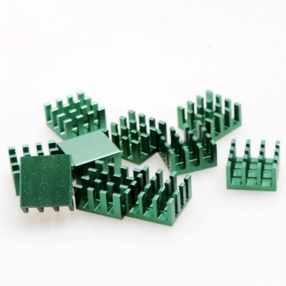 DIKAVS 10pcs ArmyGreen Aluminum Heatsink Cooling Fin for DIY Electronic