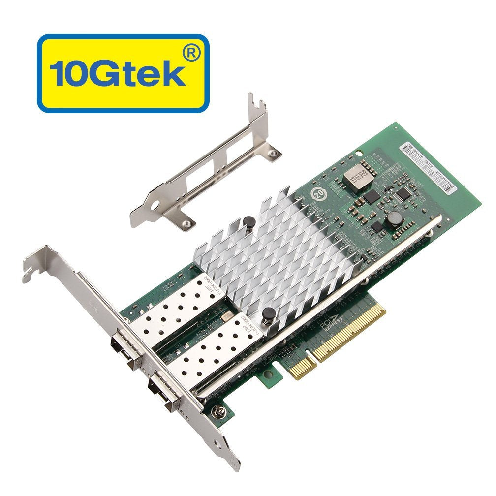 10Gtek for Intel 82599ES Chip 10GbE Ethernet Converged Network Adapter X520-DA2, PCI-E X8 Dual SFP+ Port