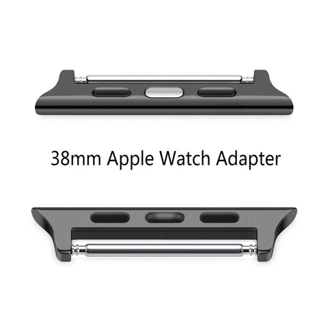 [Upgraded] Apple Watch Adapter, Oittm Stainless Steel Apple Watch Band Connection Adaptors [No Screws or Screwdriver Needed] for All Apple Watch 38mm Models (Space Gray 38mm)