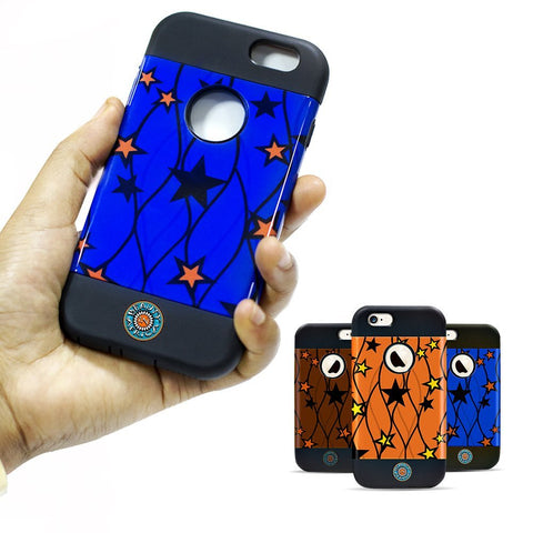 #1 iPhone 6 case -Protects your Apple iPhone 6 4.7 From Water-splashes, Scratches, Dust, Shocks and Drops. -100% Free -Built-in Screen Protector and 3 Best Interchangeable Back Covers [Orange/Red/Blue] African Ankara