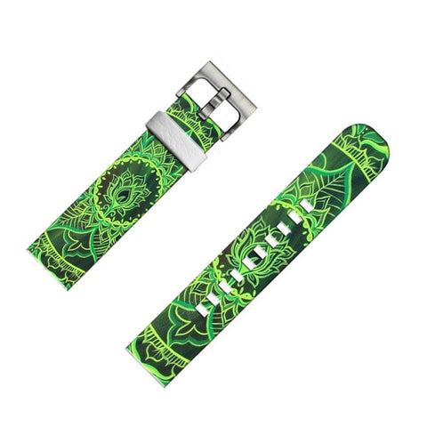 22mm Smartwatch Band for Pebble Classic and Pebble Watch green flower mandala art ( NOT for Pebble Time Round )