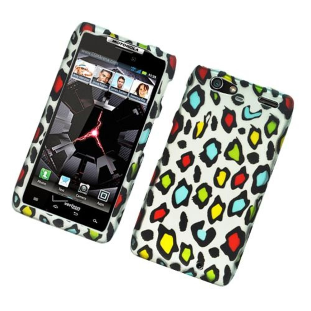 Eagle Cell PIMOTXT913R2D168 Stylish Hard Snap-On Protective Case for Motorola Droid Razr Maxx XT913 - Retail Packaging - Rainbow Leopard