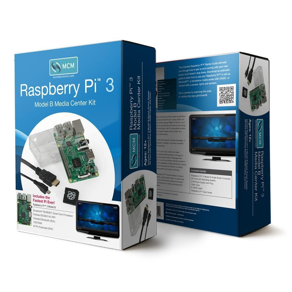Raspberry Pi 3 Model B Media Center Kit